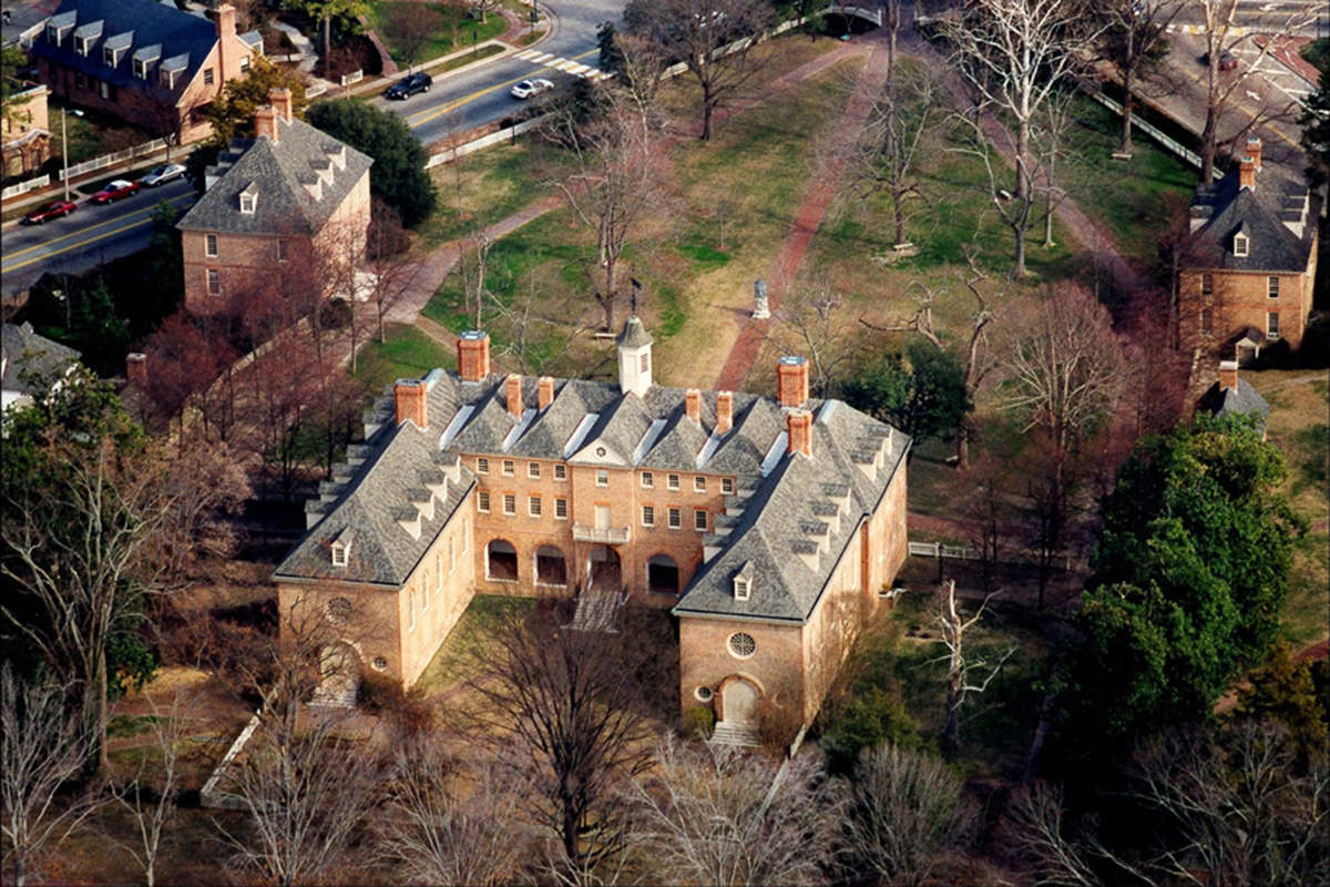 Aerial view of the W&M historic campus