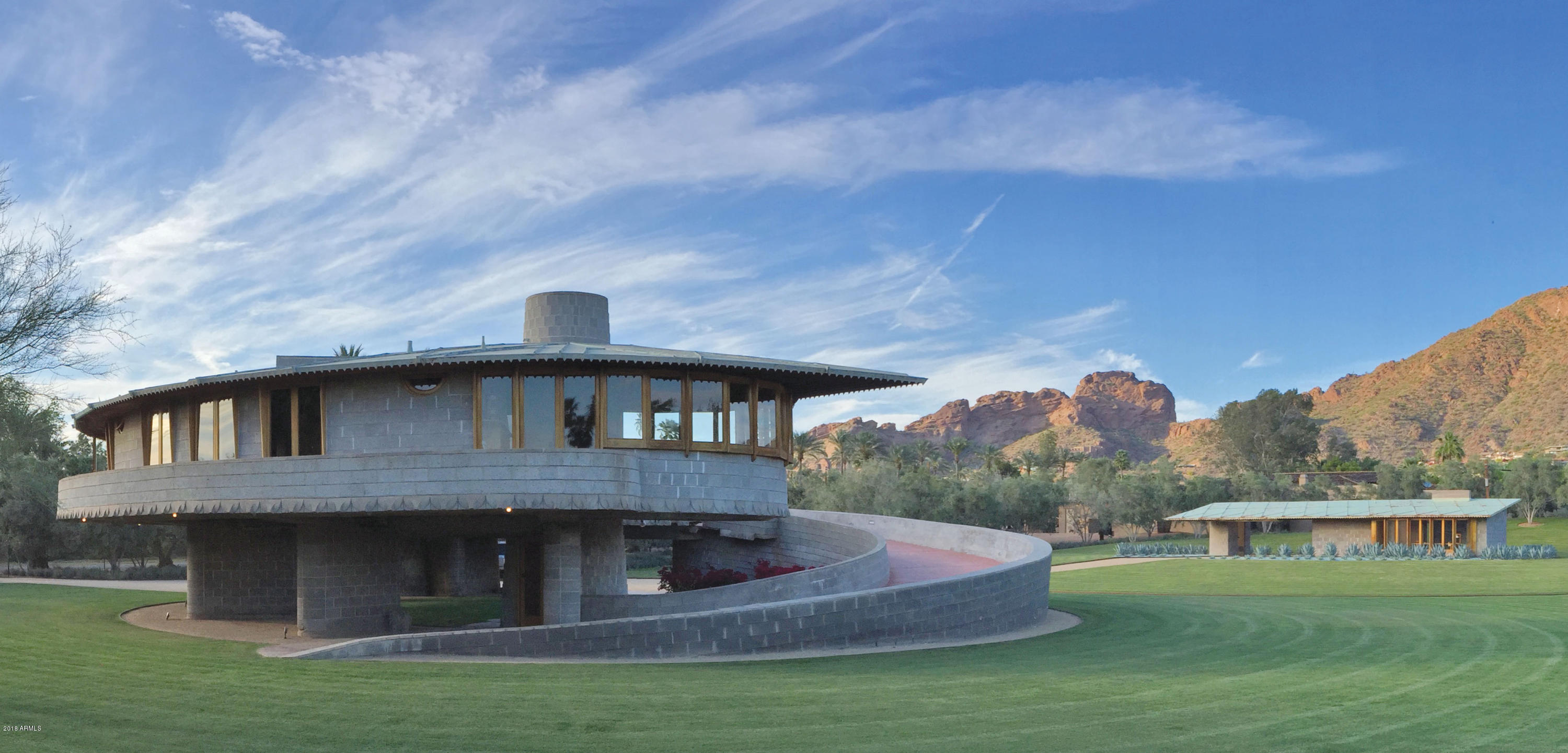 A listing photo of Frank Lloyd Wright's David and Gladys Wright House