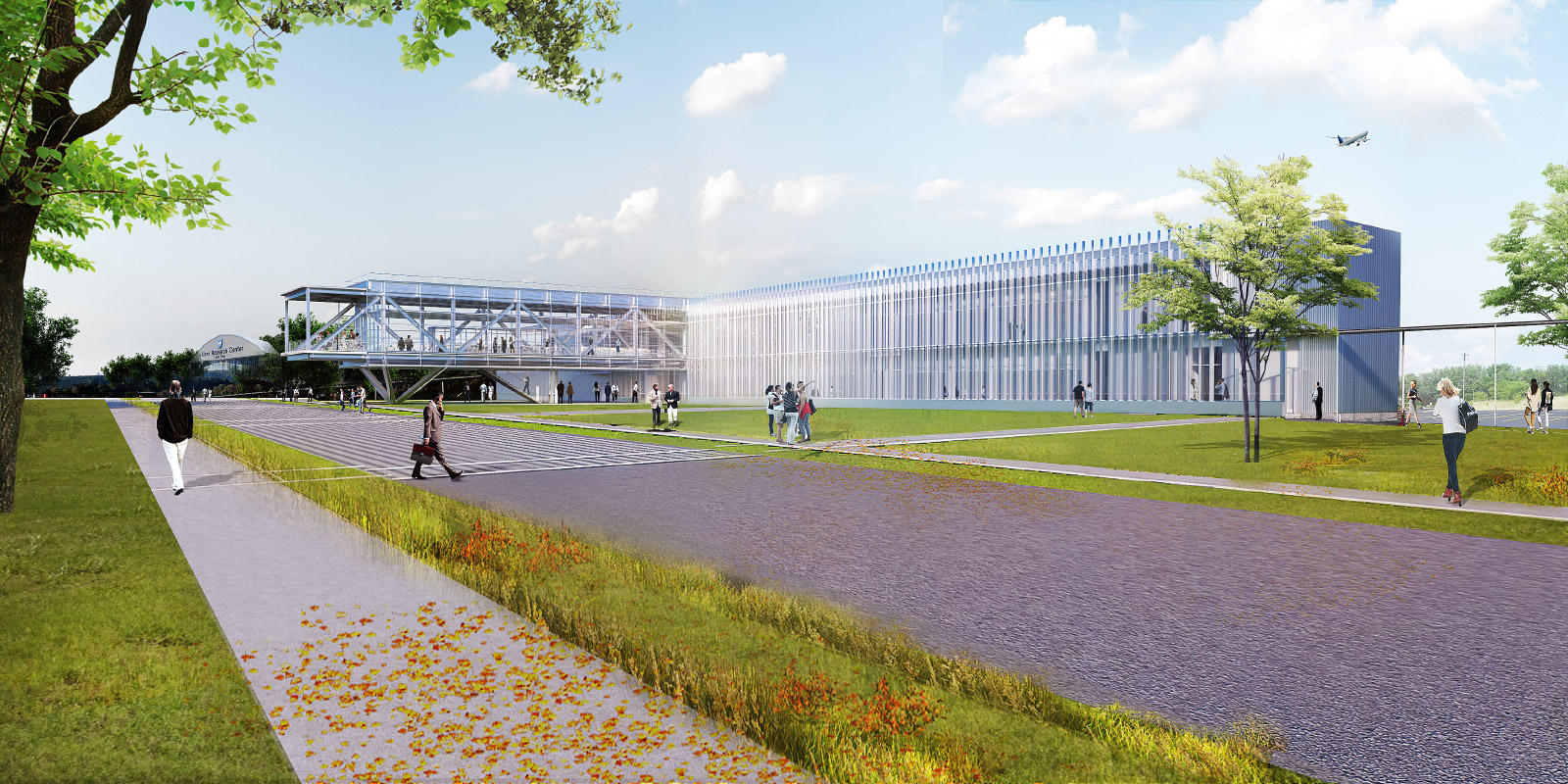 Rendering of the Research Support Building, a forthcoming addition to the John H. Glenn Research Center in Cleveland, Ohio, designed by TEN Arquitectos