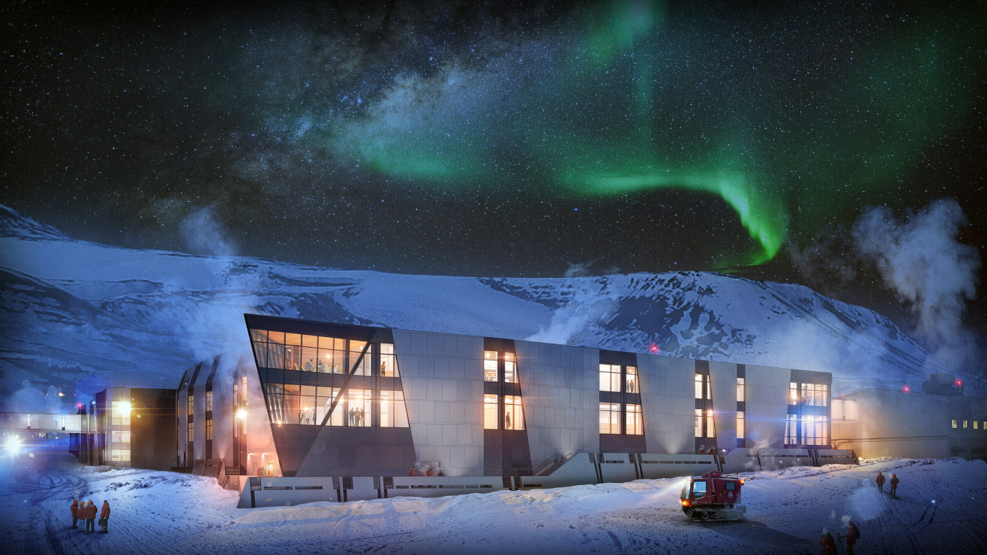 Rendering of McMurdo station in Antarctica designed by OZ Architecture