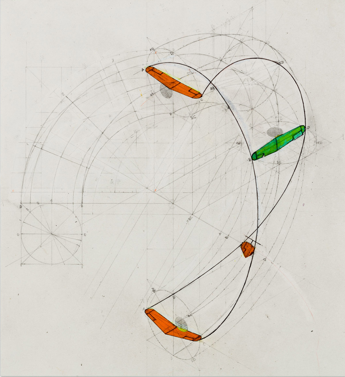 Immelmann Turn (Sin Palace chapter), 2008. Graphite on Arches paper, 28 x 28 cm (11.2 x 11.2 in.) (Michael Webb)