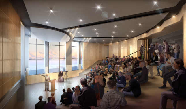 McMurdo is used as a research hub for everything from astrophysics, to atmospheric science, to climate science. OZ has proposed an auditorium where scientists can share their findings with everyone on the campus.