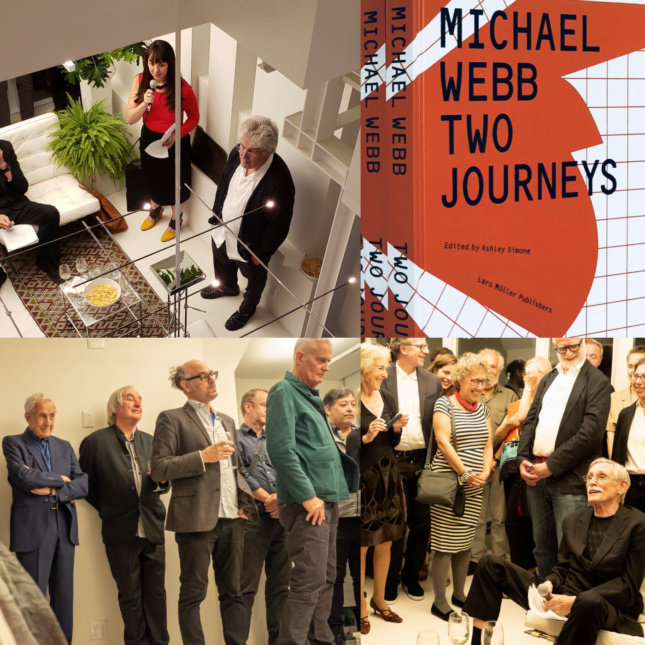 Ashley Simone, William Menking, Steven Holl, Kenneth Frampton, and many others gathered to celebrate the release of Two Journeys