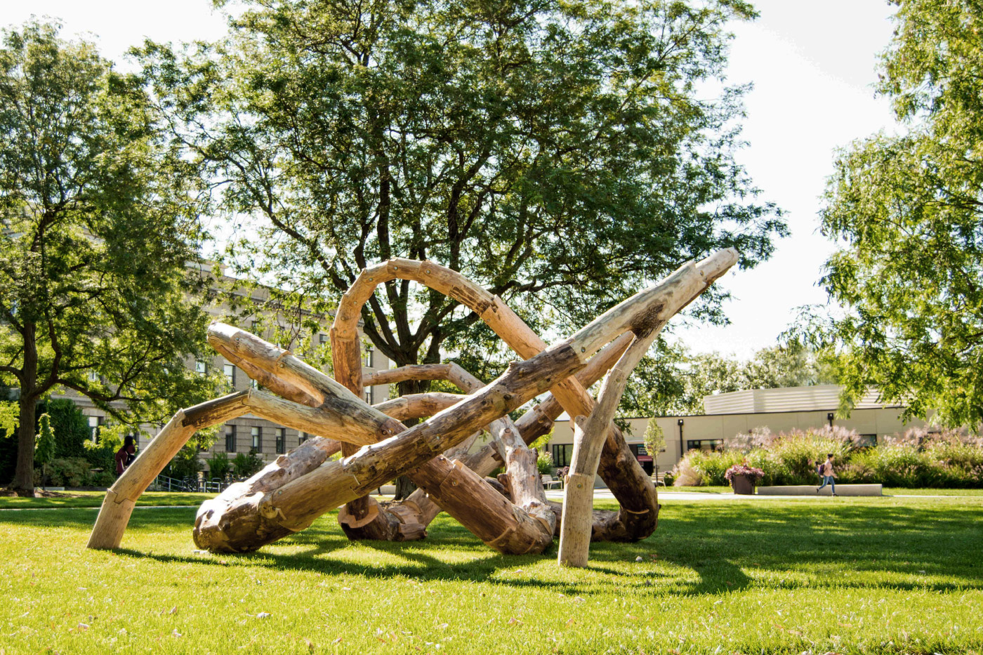 LOG KNOT on Cornell University's Agriculture Quad.