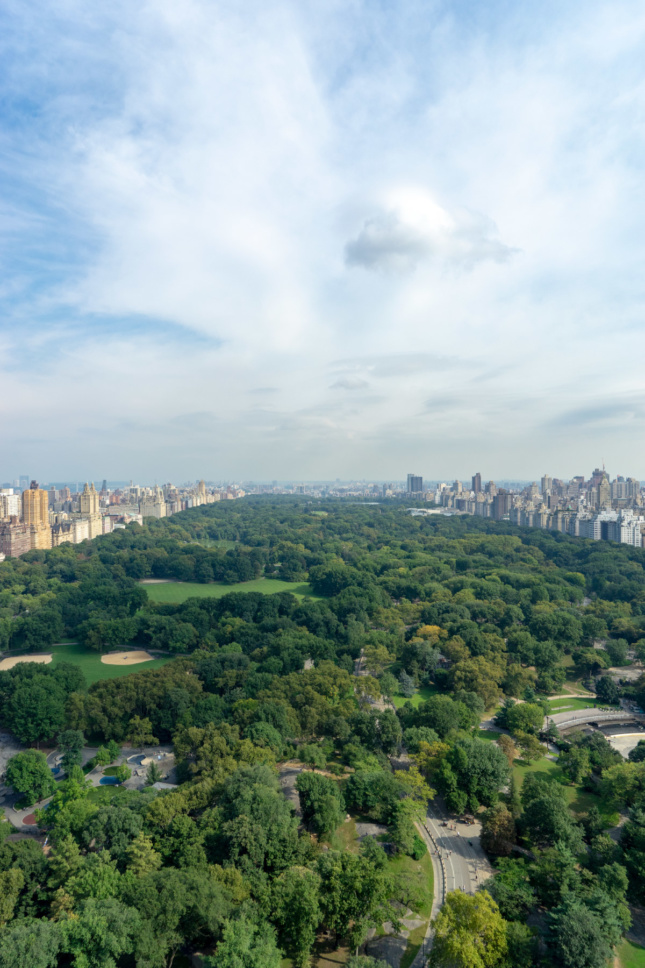 Photo of view from the Hampshire House penthouse at 150 Central Park South