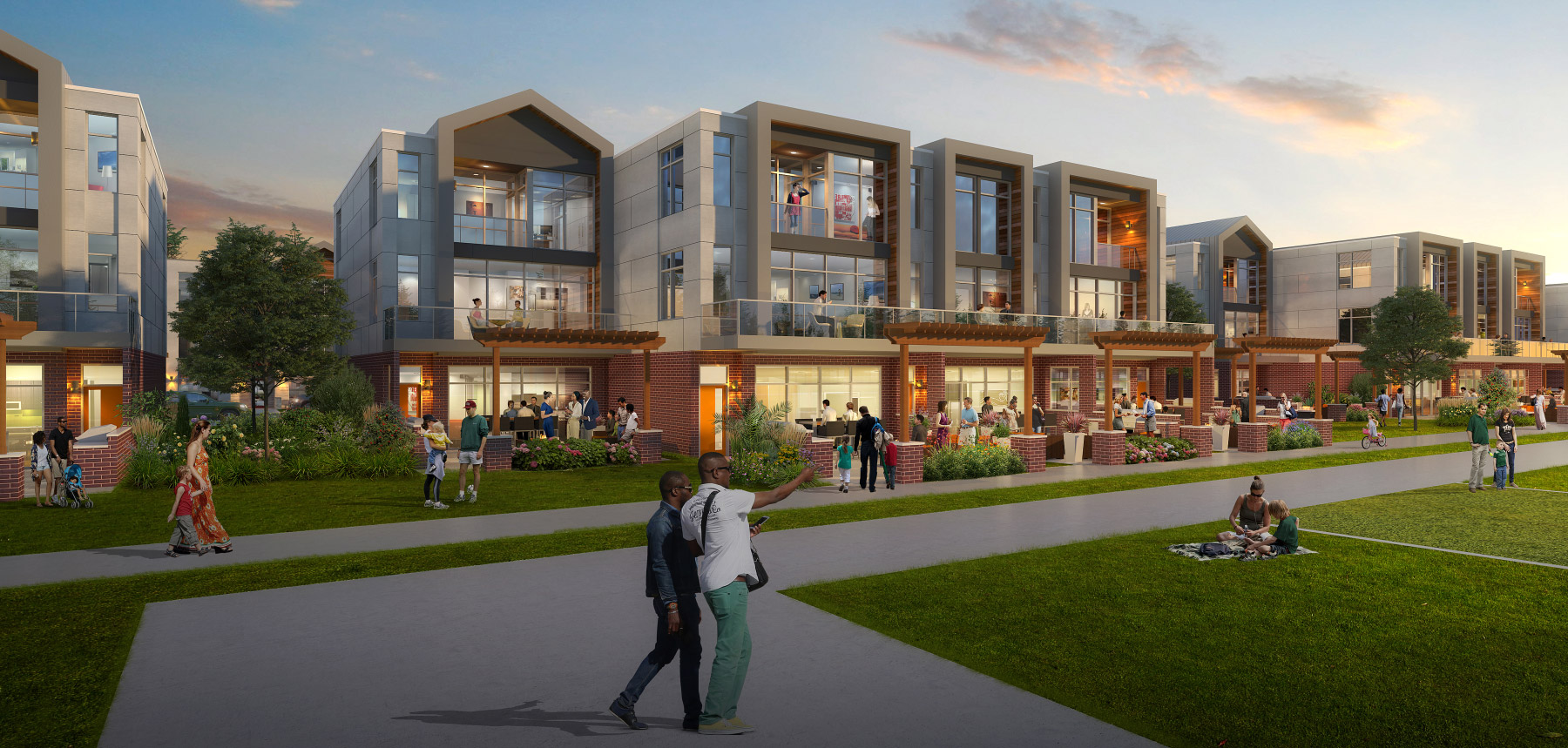 Rendering of the residences at Titletown