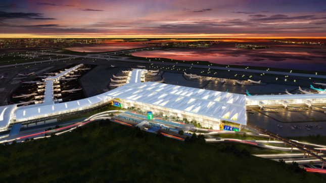 Rendering of the Vision Plan for the John F. Kennedy International Airport