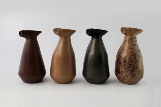 The SIlvia Jugs, made in Los Reyes Metzontla, Puebla, are the product of experimental design workshops run by Innovando la Tradición that took an ancient piece from Oaxaca's pottery history and crossed it with a contemporary industrial container.