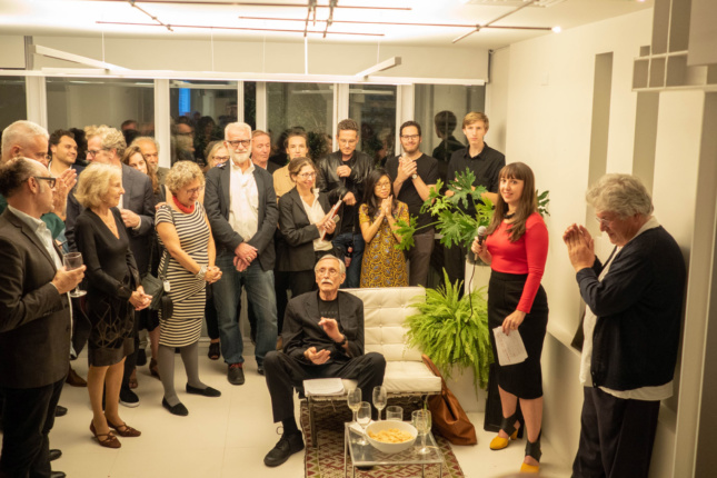 An array of contemporaries and fans gathered to celebrate Webb and his work at a launch party for Two Journeys on September 20, 2018.