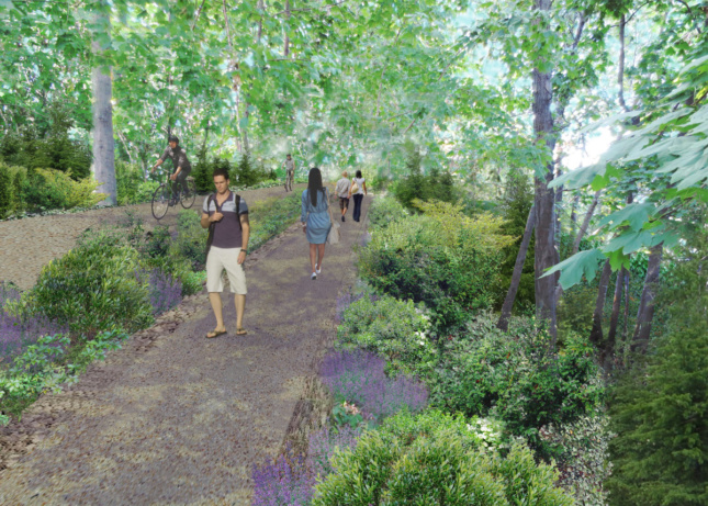 The QueensWay would include wild sections, analogous to its Manhattan counterpart.