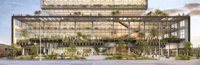 """The glassy ground floors will be set back within the existing building's """"shell""""."""