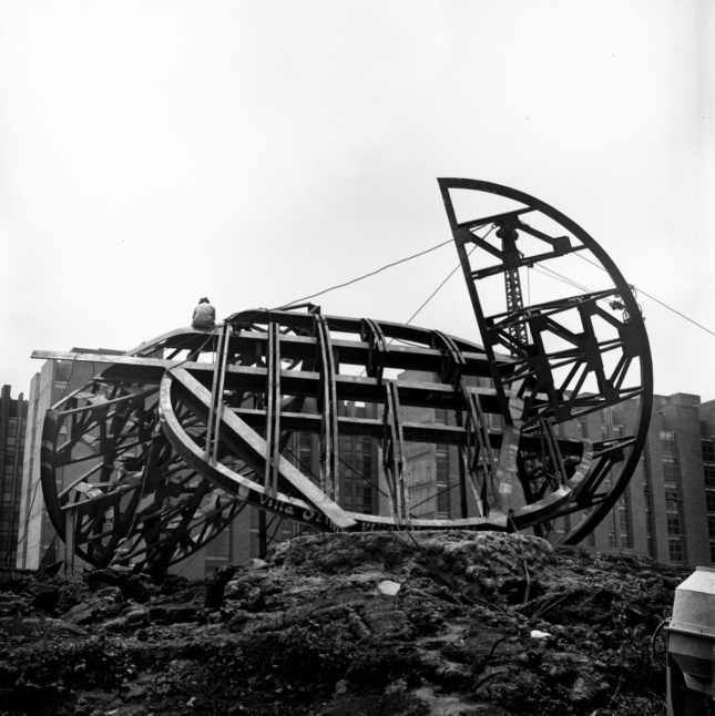 Part of the Columbia GSAPP exhibition No. 9, which closed in February 2018, this work by Mexican architect Frida Escobedo reimagines Station 9, The Magic Wheel/La Rueda Magica, at La Ruta by artist Todd Williams, who represented the United States in 1968.