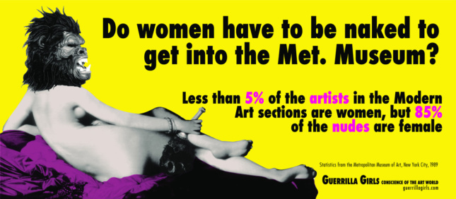 Poster titled Do Women Have to Be Naked to Get Into the Met. Museum? by Guerrilla Girls