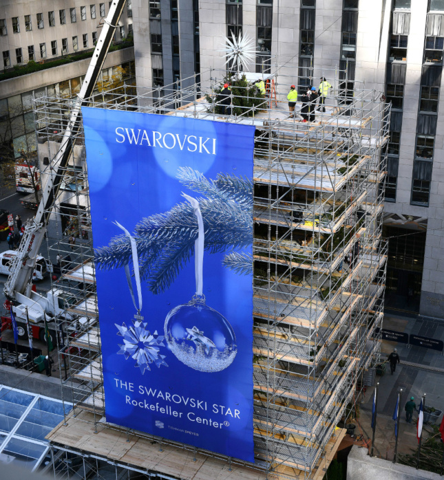 The Rockefeller Center Christmas Tree is currently under wraps until November 28.