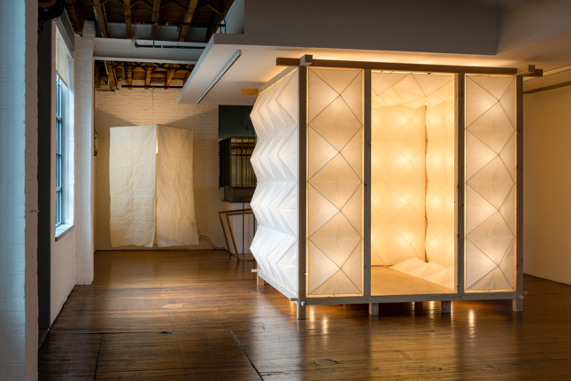 Installation view of Akari: Sculpture by Other Means at the Noguchi Museum