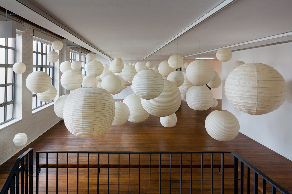 Installation photo of Akari: Sculpture by Other Means at the Noguchi Museum