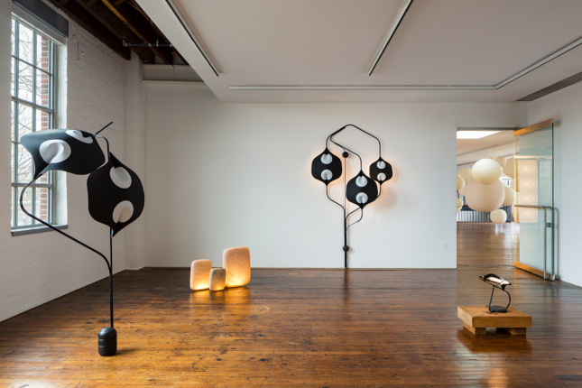 Installation view, Akari Unfolded: A Collection by YMER&MALTA at the Noguchi Museum