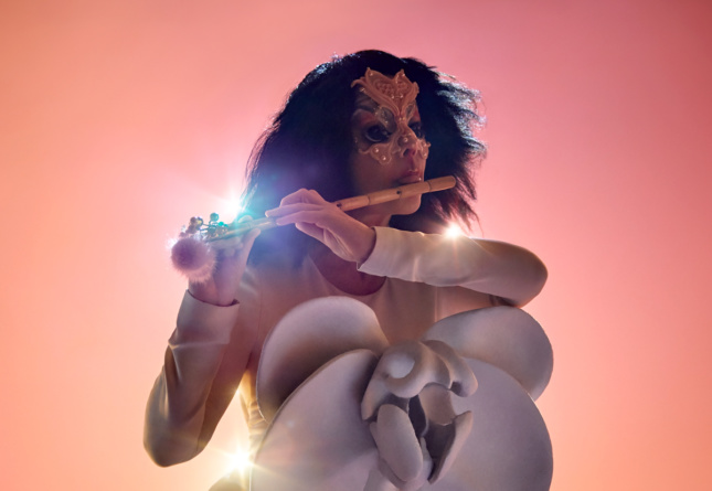 Promotional photo of for Björk for her forthcoming Cornucopia show at The Shed