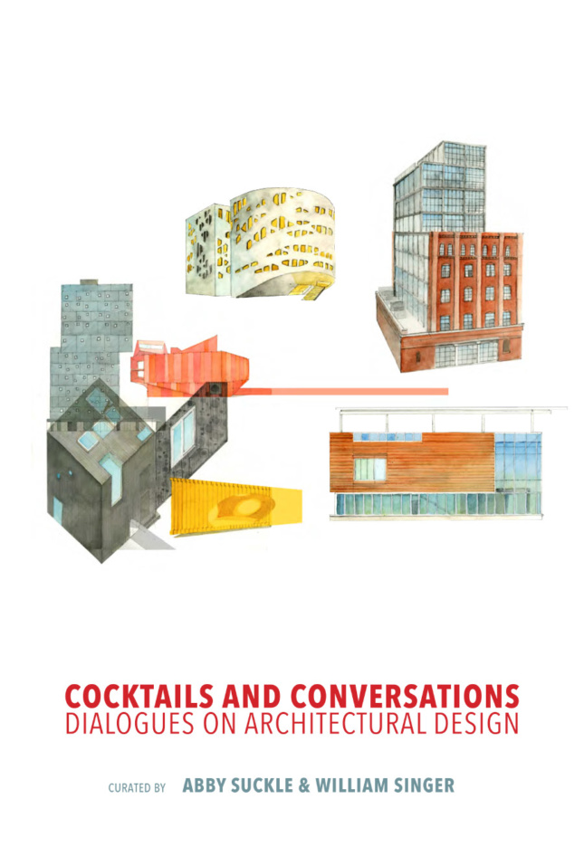 The cover of Cocktails and Conversations: Dialogues in Architectural Design