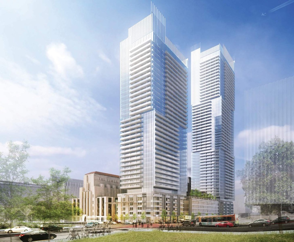 Rendering of the LA Times complex development