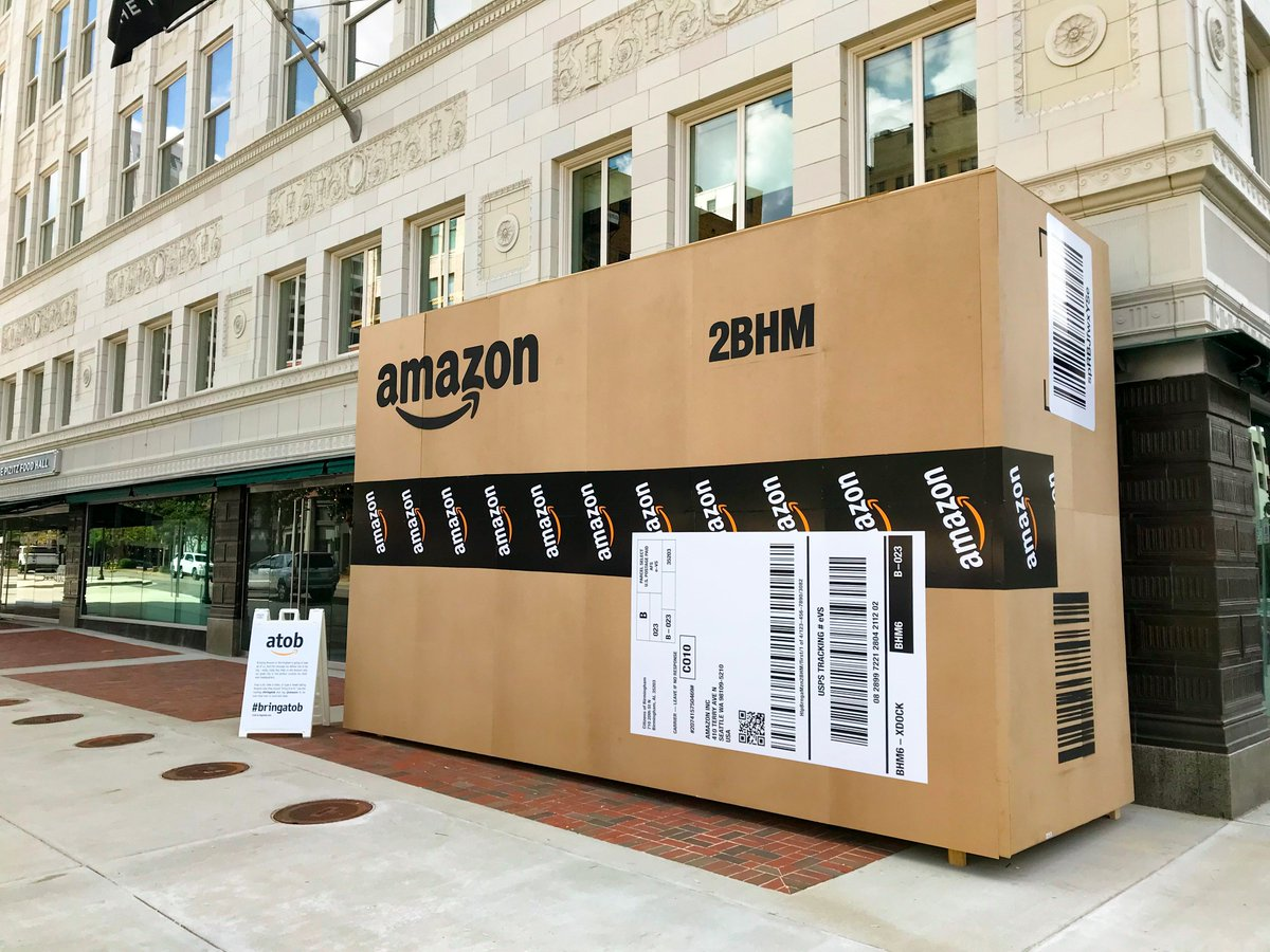 giant promotional materials used in the 238 Amazon HQ2 bids