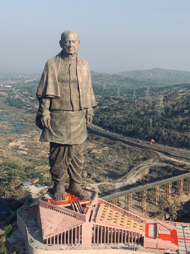 Photo of the Statue of Unity