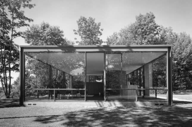 The Glass House in New Canaan, Connecticut