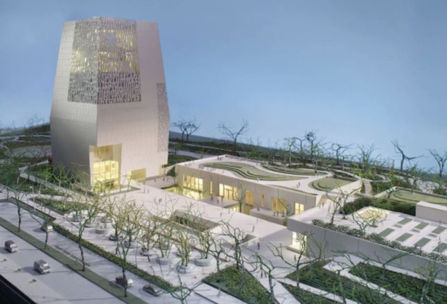 Model photograph of the Obama Presidential Center