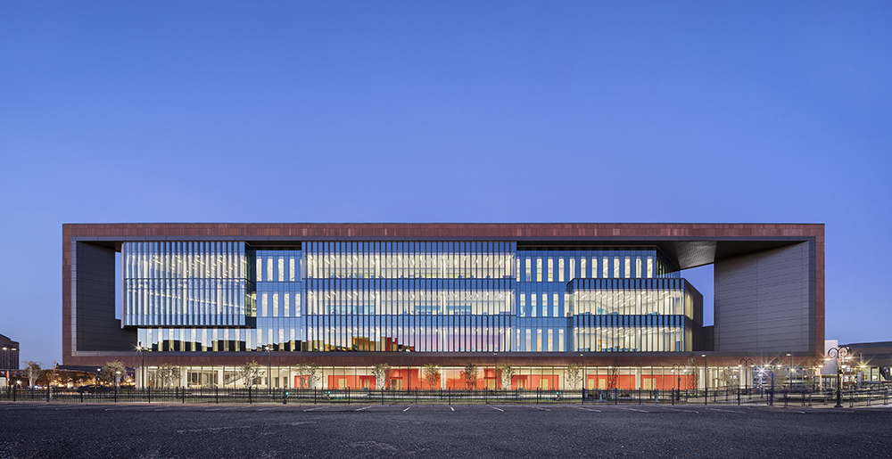Photo of Rutgers School of Nursing and Science designed by Perkins Eastman