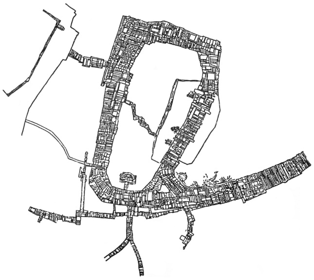 Drawing of the path immediately adjacent to the Propylaea at the Acropolis, by Dimitris Pikionis.