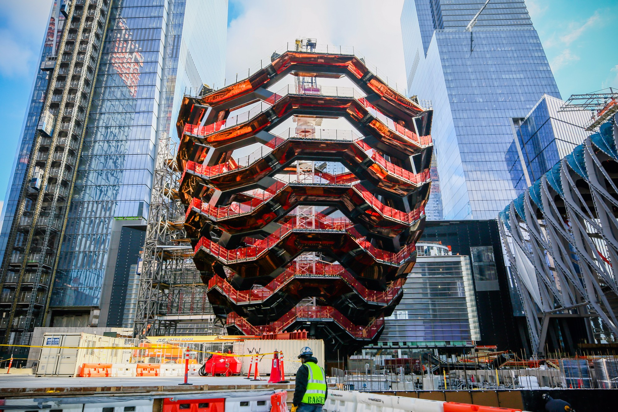 Photo of the vessel in Hudson Yards