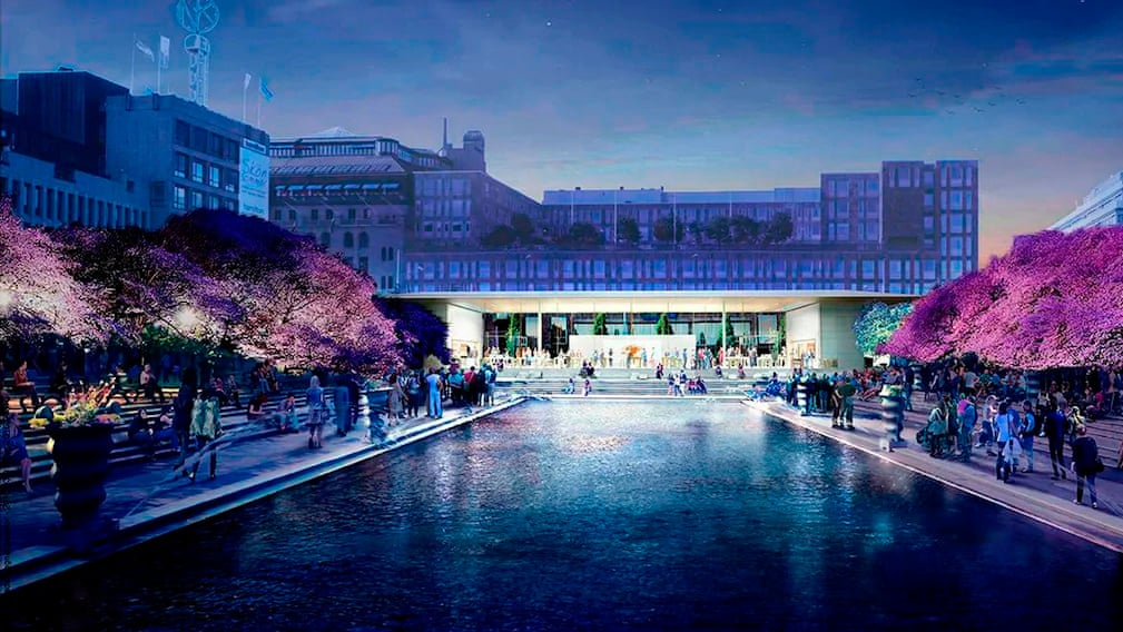 Apple's proposal for Stockholm's Kungsträdgården park