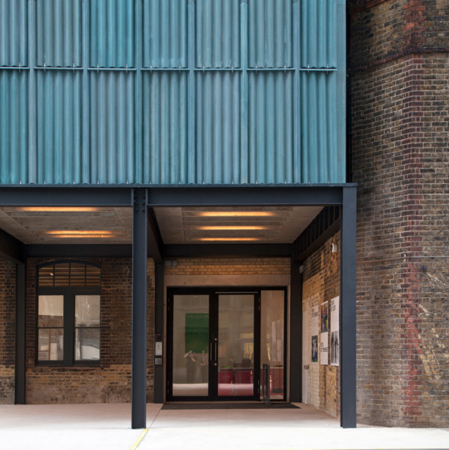 Photo of the exterior of the Goldsmiths Centre for Contemporary Art designed by Assemble