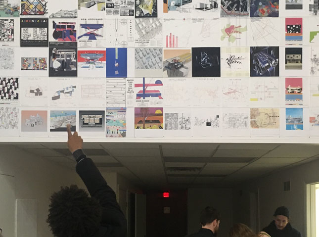 Photo of students at the University of Cincinnati's School of Architecture and Interior Design (SAID)