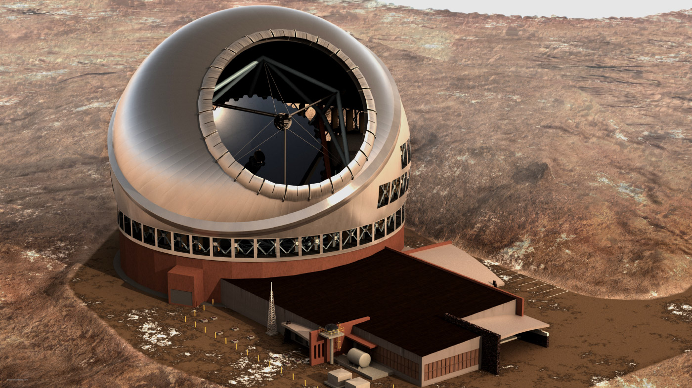 A rendering of the Thirty Meter Telescope