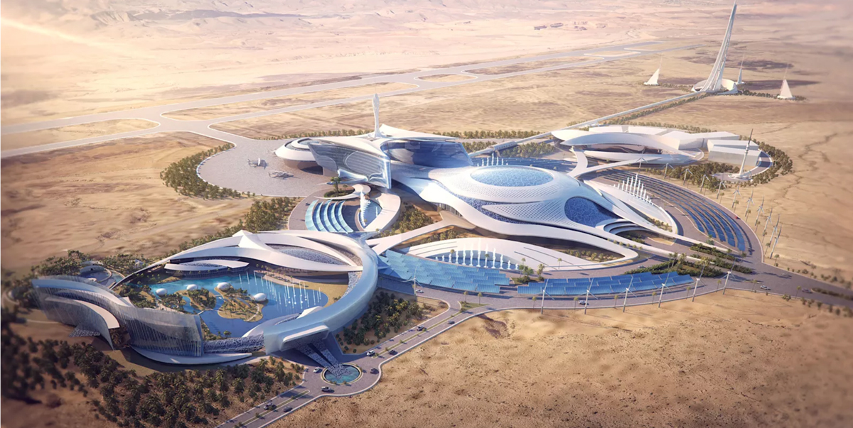 A rendering of Virgin's proposed space-centered development in Saudi Arabia
