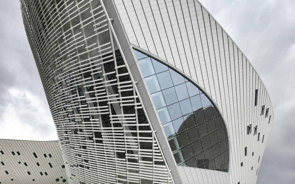 Facade detail of Strait Culture and Art Center