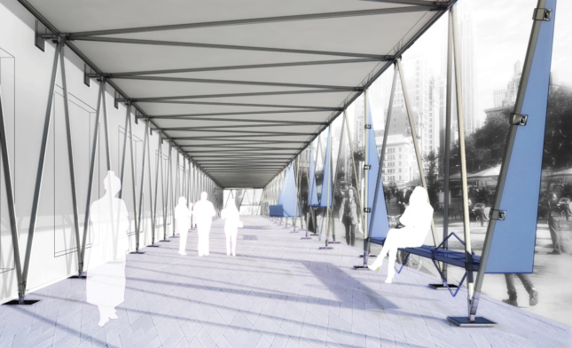 2018 Best of Design Awards Honorable Mention for Unbuilt - Public - Urban Canopy