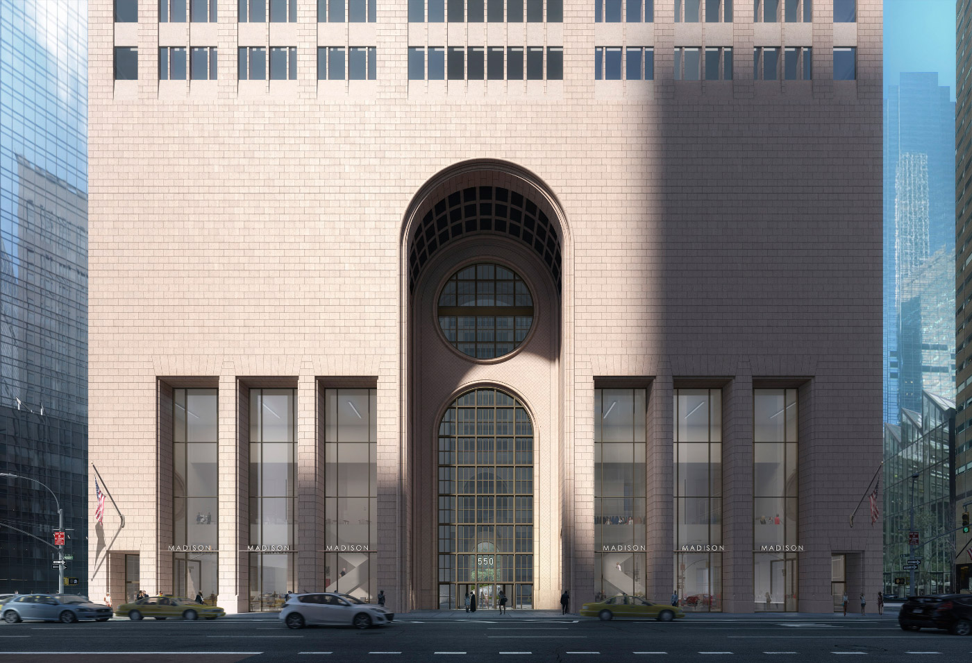 Rendering of 550 Madison redesign