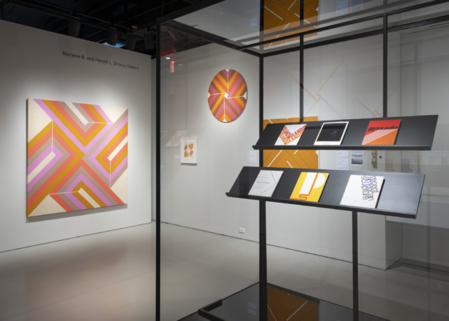 Installation view of Masterpieces & Curiosities: Elaine Lustig Cohen at the Jewish Museum