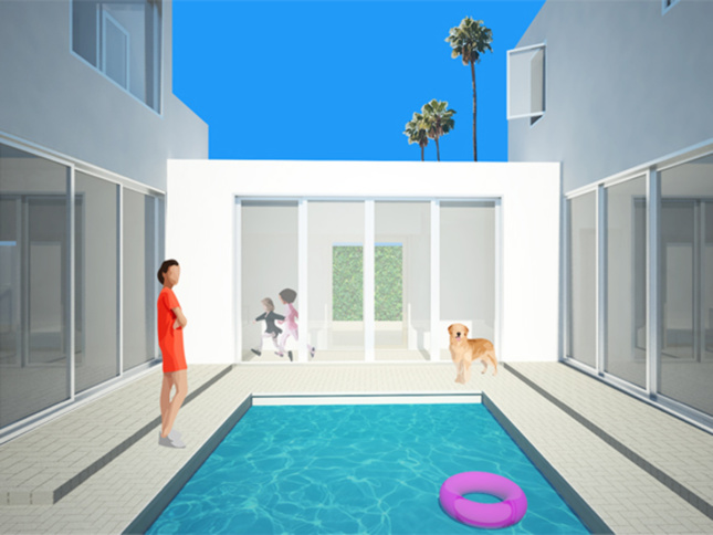 Rendering of the Courtyard House pool.