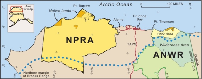 Map showing the NPR-A.