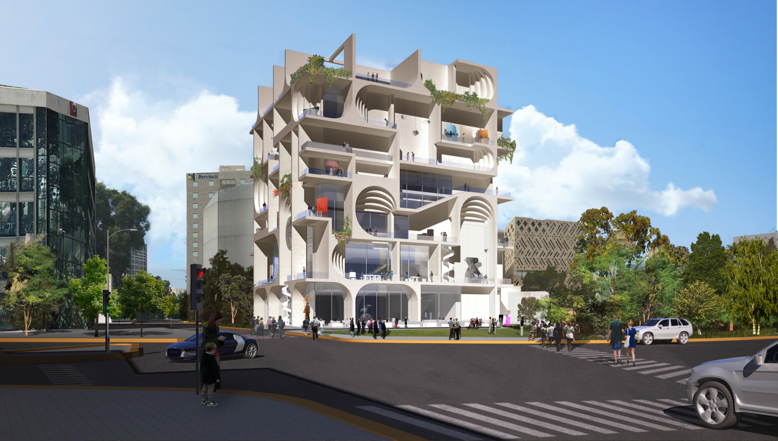 Rendering of WORKac's and Amale Andraos's design for the Beirut Museum of Art (BeMa)
