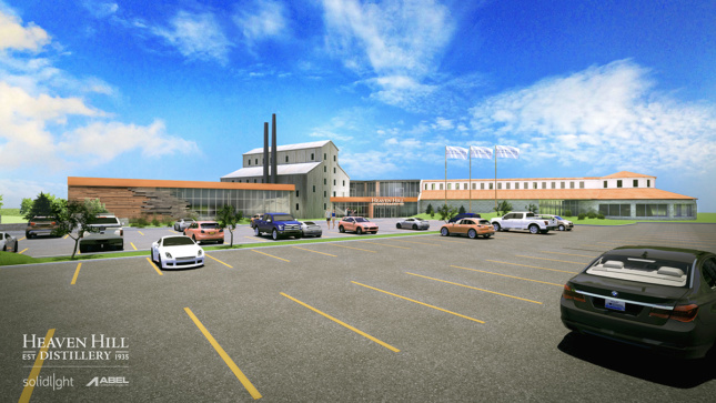 Rendering of Heaven Hill by Solid Light