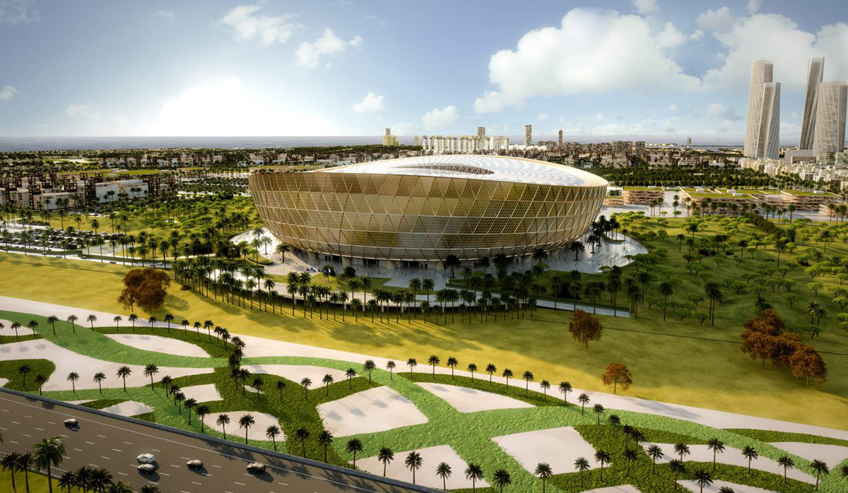 Rendering of Foster + Partners Lusail Iconic FIFA World Cup 2022