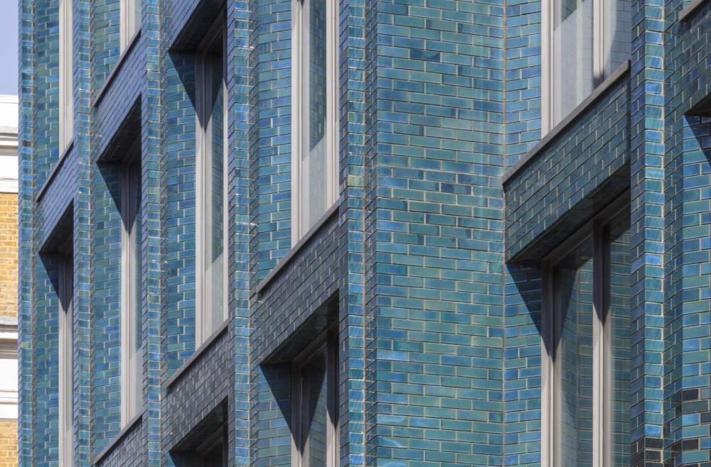 40 Beak Street features glazed brick in 100 formats