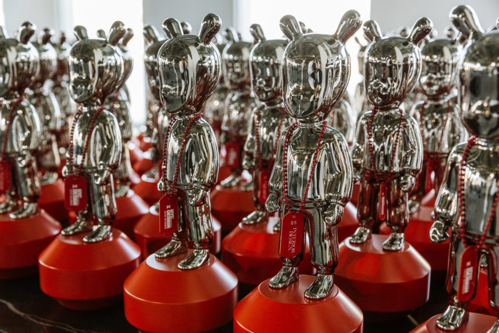 Photo of NYCxDESIGN Awards trophies