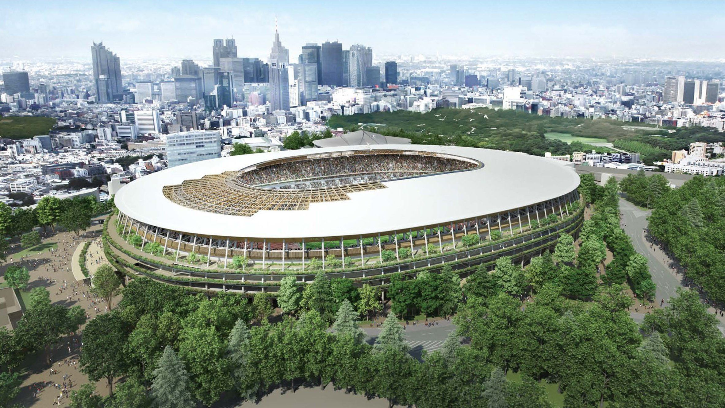 Rendering of Japan's 2020 National Stadium