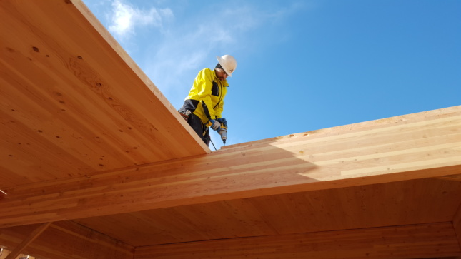 CLT Panels and Glulam Beams DR Johnson Wood Innovations