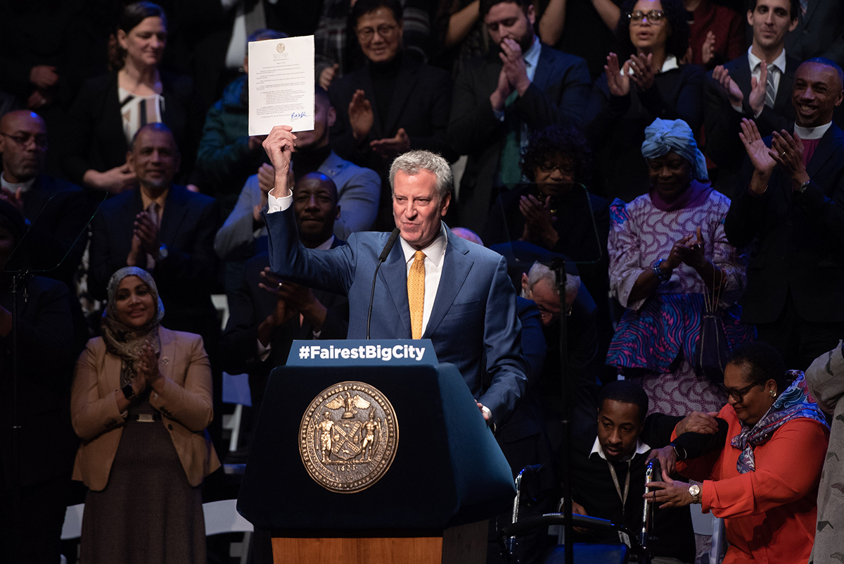 Photo of Mayor Bill de Blasio at the State of the City